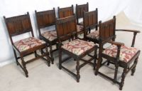 Ercol Dark Elm Extending Dining Table & Dining Chairs